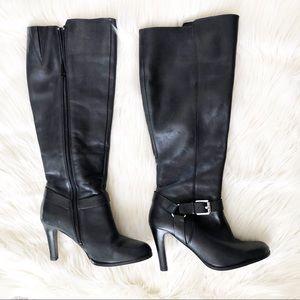 Ralph Lauren Bria black leather boots size 5.5